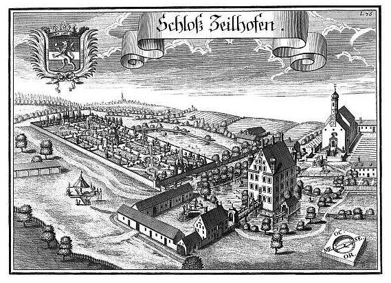 Ansicht des Schlosses Zeilhofen um 1700